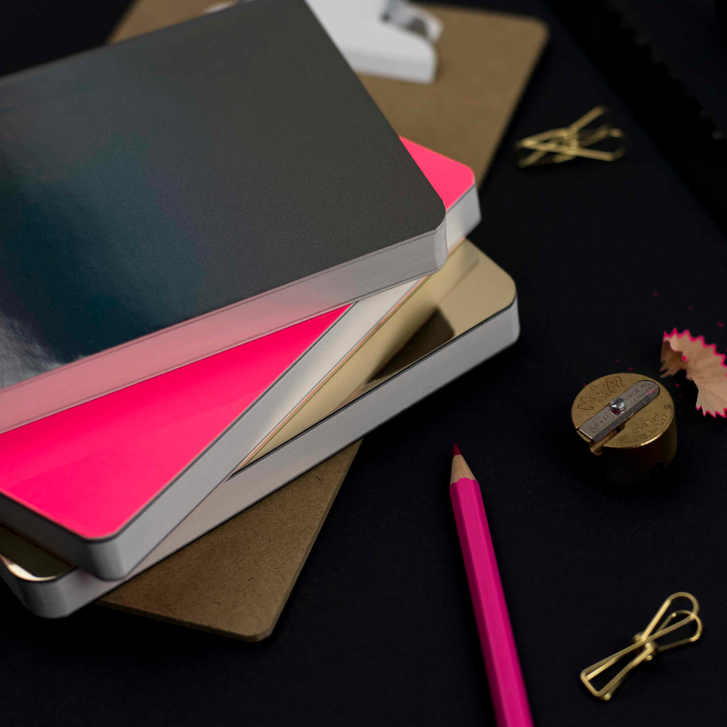 gloss nuuna notebooks neon gold and holographic