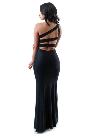 Triple Back Strap Long Dress