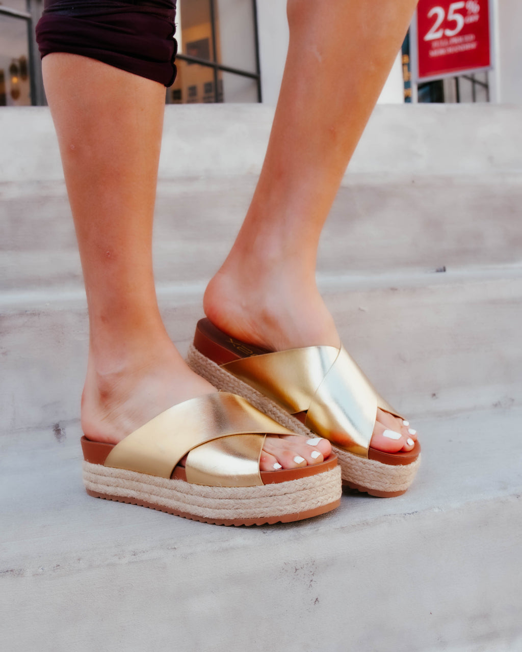 Thick Cross Strap Sandal