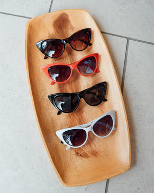 Cat Eye Sunglasses Red