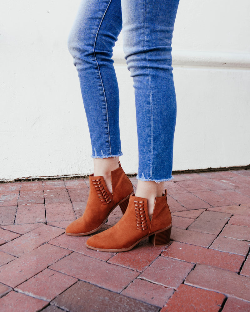 Suede Braided Side Bootie
