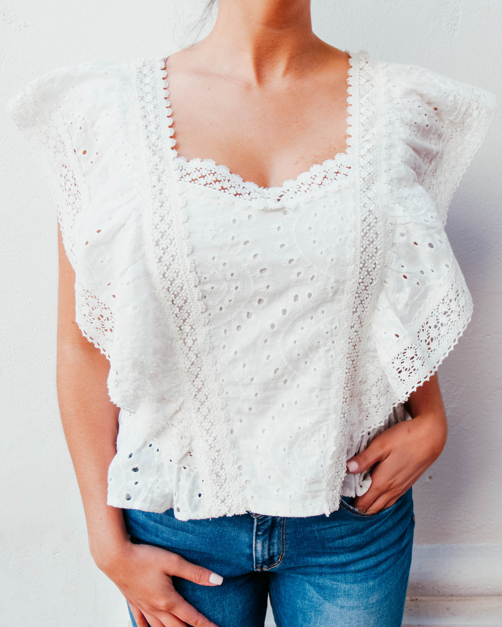 Lace Trimmed Blouse