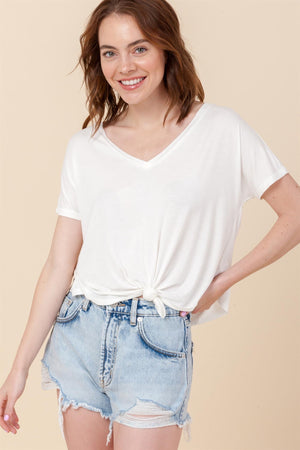 Front Tie Loose T-Shirt