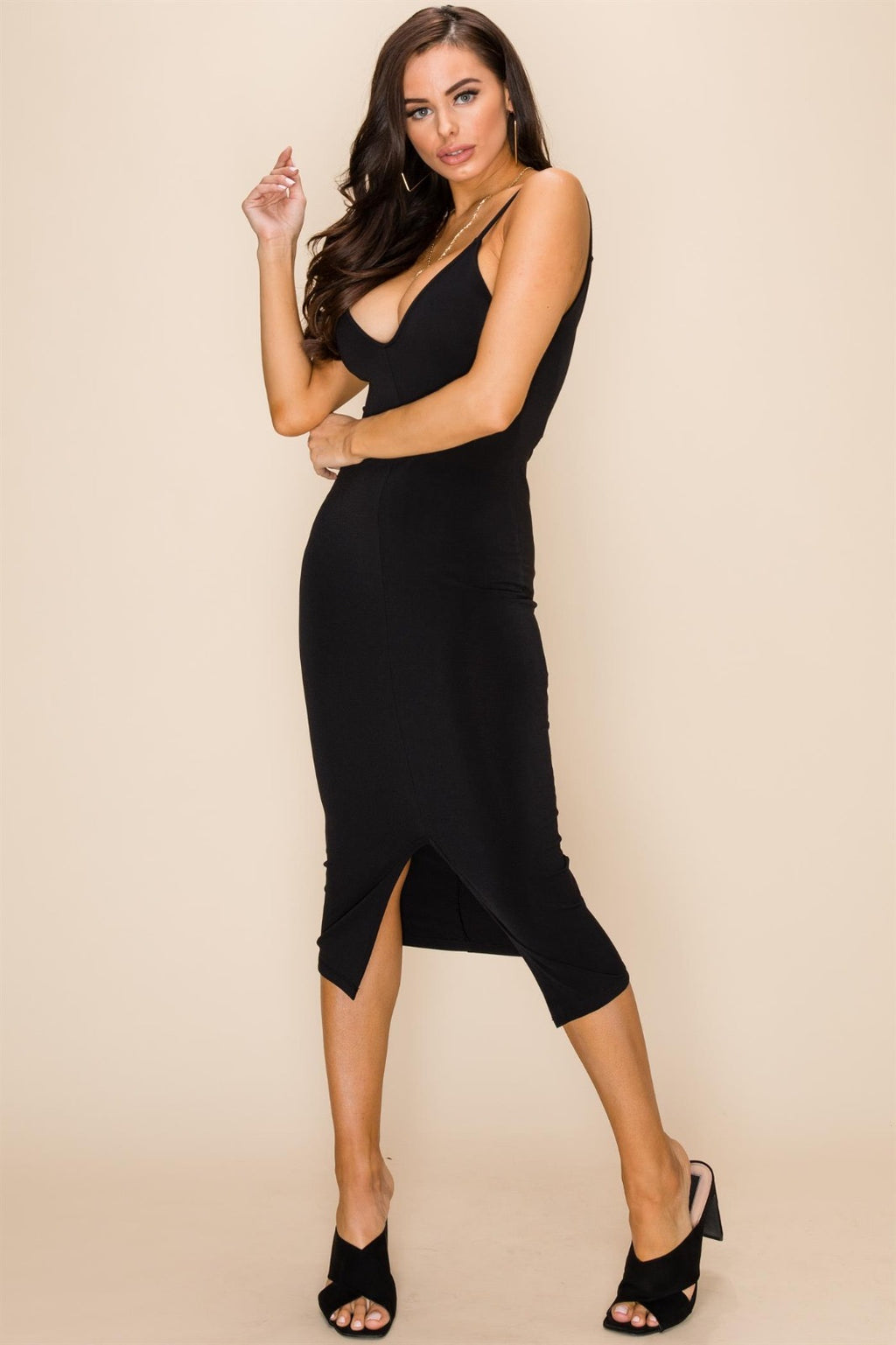 Melissa Slit Bodycon Dress