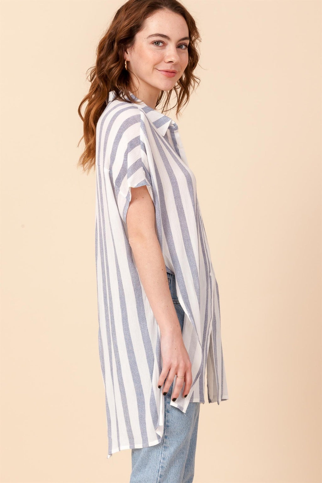 Olivia Oversized Stripe Blouse