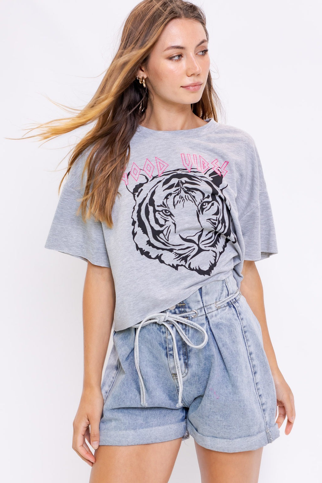 Good Vibes Tiger Tee