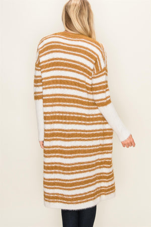 Long Stripe Cardigan