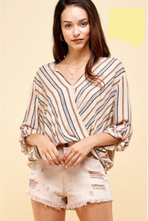 Audrey Stripe Blouse