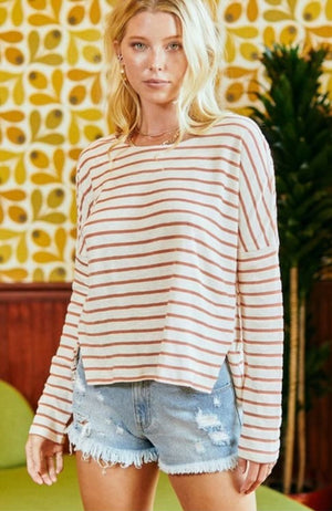 Stripe Overflow Long Sleeve