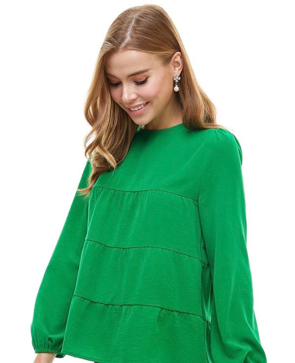 Emerald Long Sleeve Blouse