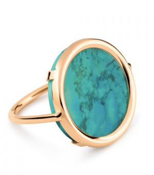 Fallen Sky Disc ring (Turquoise)