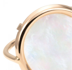 RDPE Disc ring Mother of PEARL, size 50