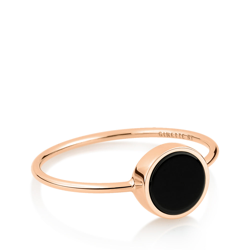 Mini Ever Onyx Disc ring
