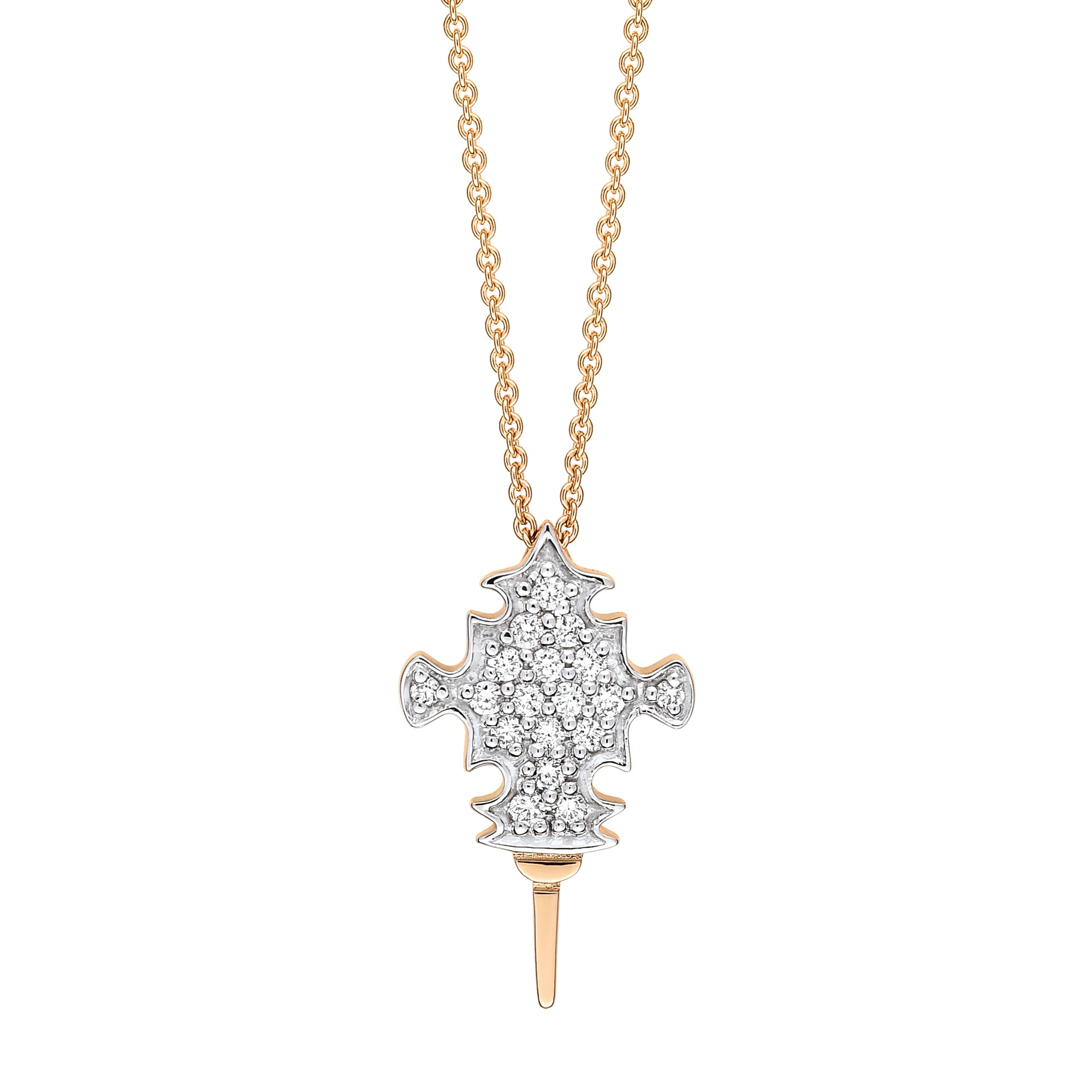 Diamond Tanger necklace
