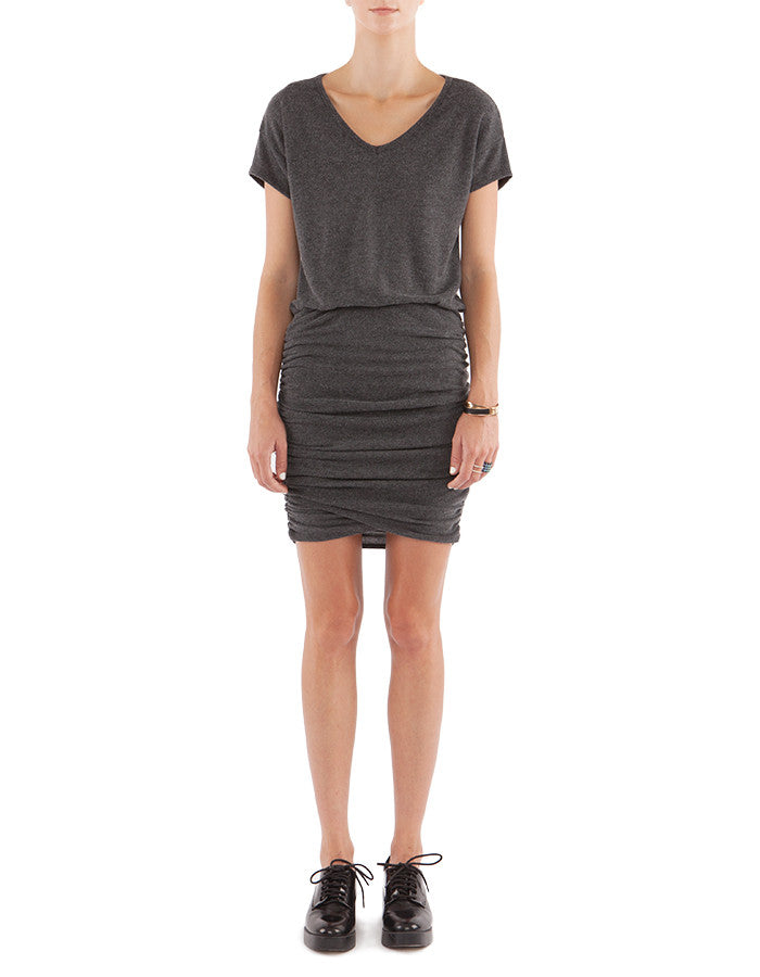 Sable Dress Charcoal Black