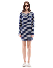 Stacy Dress Navy/White