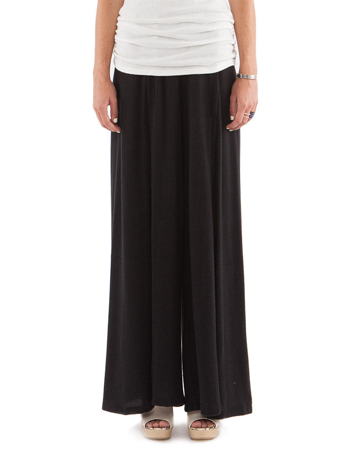 Addie Wide Pants Real Black