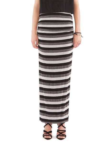 Adele Skirt Neutral Stripe