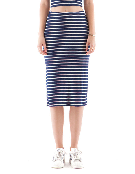 Alyssa Skirt Navy/White