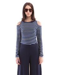 Leigh Long Sleeve Navy/White