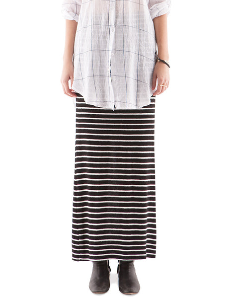 Hailey Long Skirt Black/White