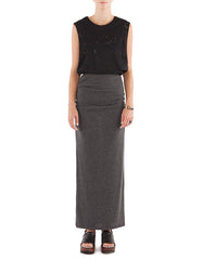 Adele Skirt Charcoal Black