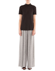 Addie Wide Pants Melange Black