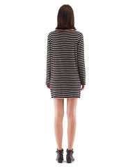 Stacy Dress Black/White