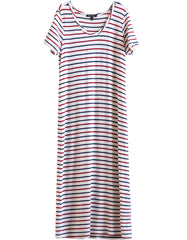 Capella Dress Navy/Red/White