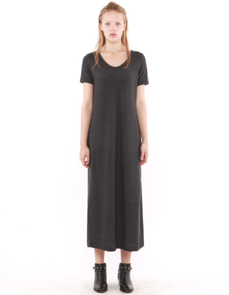 Capella Maxi Dress Charcoal Black<br><font color=red><STRIKE>USD $152.00</strike></font>