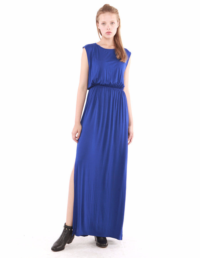 Charon Maxi Dress Royal<br><font color=red><STRIKE>USD $130.00</strike></font>
