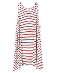Chloe Tank Dress Navy/Red/White