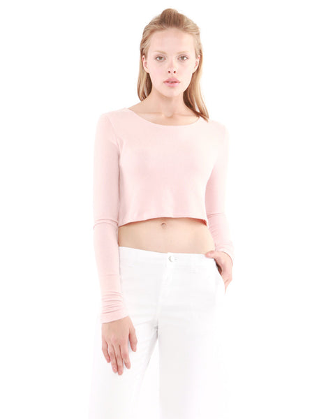 Estelle Long Sleeve Crop Lotus<br><font color=red><STRIKE>USD $60.00</strike></font>
