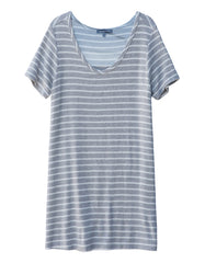 Capella Mini Dress Heather Grey/White