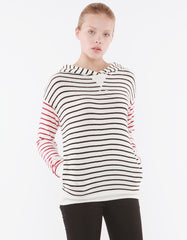 Iris Hoodie Black/Red Stripe<br><font color=red><STRIKE>USD $129.00</strike></font>