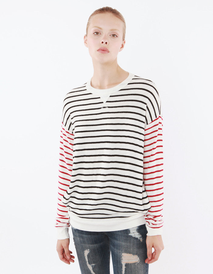 Iris Sweatshirts Black/Red Stripe<br><font color=red><STRIKE>USD $118.00</strike></font>
