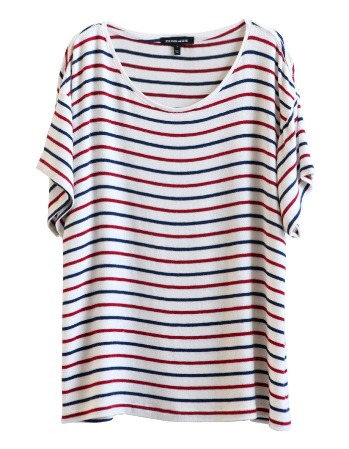 Jupiter Short Sleeve Navy/Red/White<br><font color=red><STRIKE>USD $73.00</strike></font>