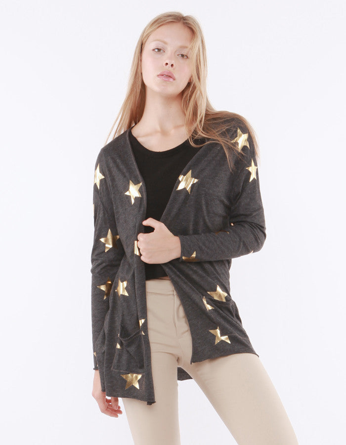 Juliet Star Cardigan Black<br><font color=red><STRIKE>USD $108.00</strike></font>