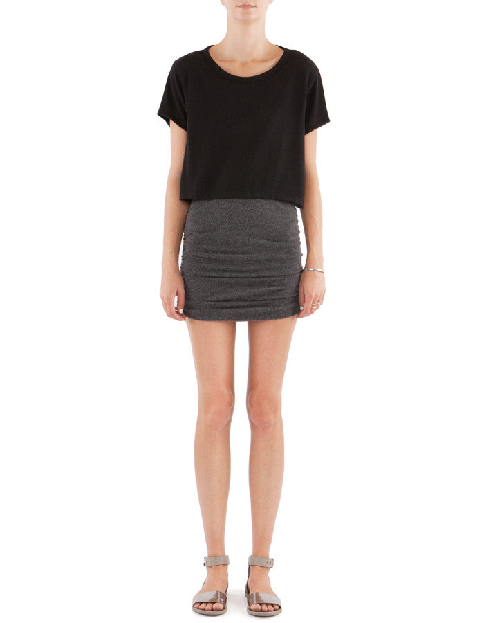 Kara Skirt Charcoal Black