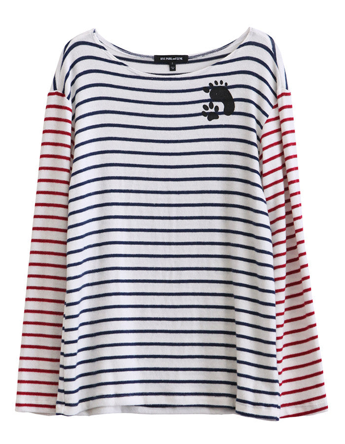 Poseidon Long Sleeve Navy/Red Stripe<br><font color=red><STRIKE>USD $86.00</strike></font>