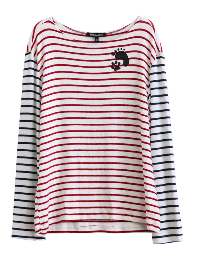 Poseidon Long Sleeve Red/Navy Stripe<br><font color=red><STRIKE>USD $86.00</strike></font>