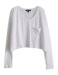 Spica Pocket Long Sleeve White<br><font color=red><STRIKE>USD $77.00</strike></font>
