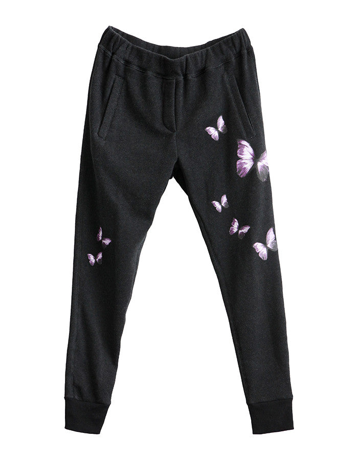 Butterfly Sweatpants Real Black