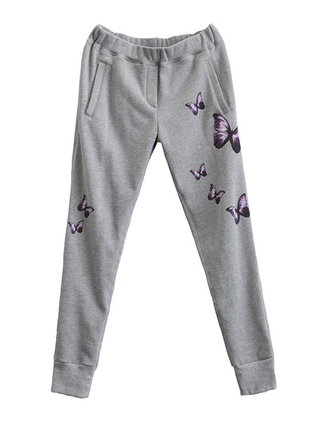 Butterfly Sweatpants Heather Grey