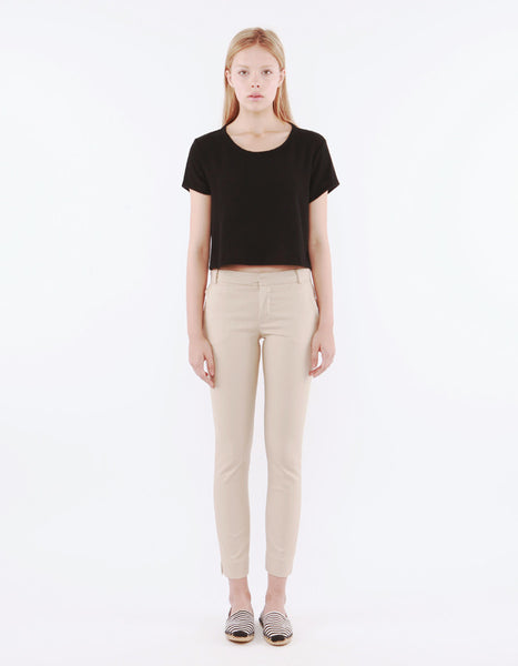 Leporis Short Sleeve Crop Real Black<br><font color=red><STRIKE>USD $47.00</strike></font>