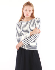 Mars Long Sleeve White/Black Stripe<br><font color=red><STRIKE>USD $79.00</strike></font>
