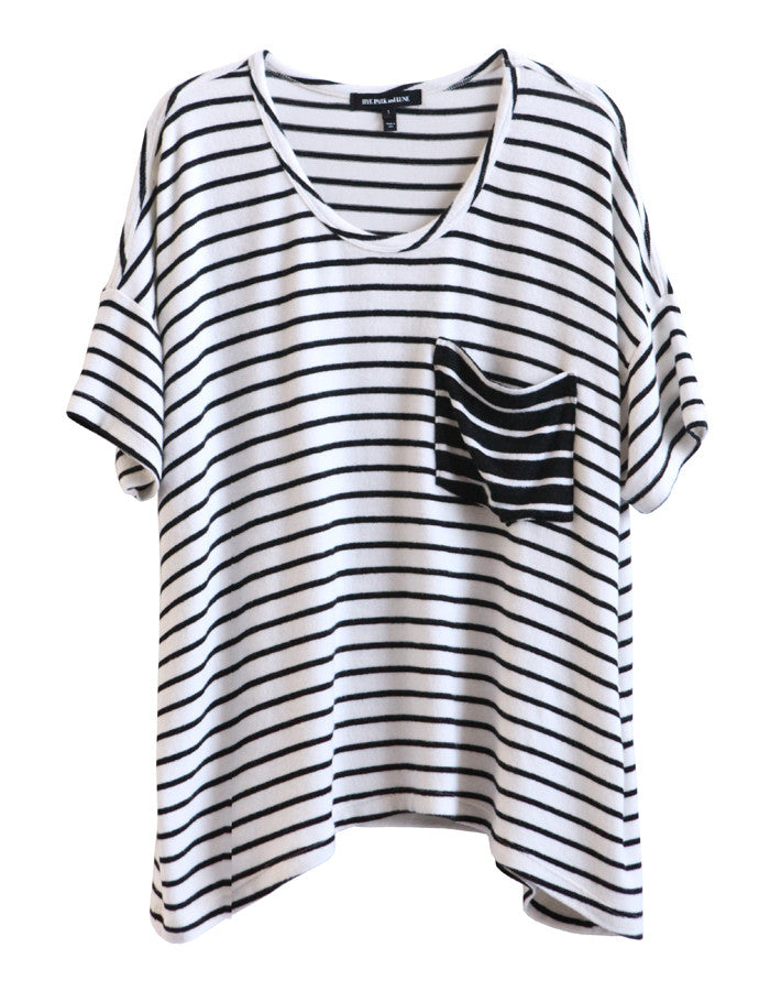 Orbit Short Sleeve White/Black<br><font color=red><STRIKE>USD $108.00</strike></font>