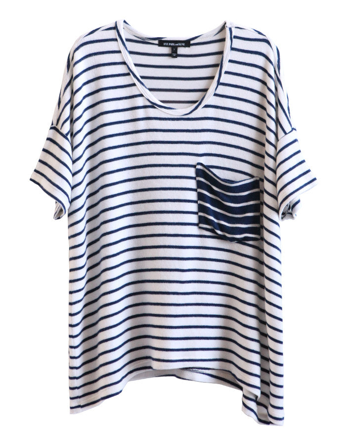 Orbit Short Sleeve White/Navy<br><font color=red><STRIKE>USD $108.00</strike></font>