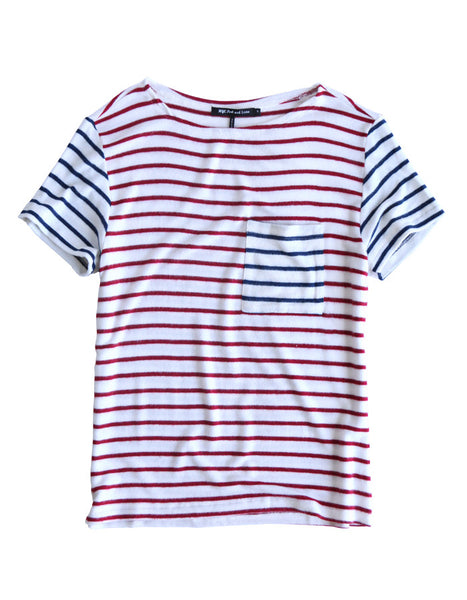Pluto Short Sleeve Red/Navy Stripe<br><font color=red><STRIKE>USD $77.00</strike></font>