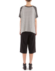Phyllis Short Sleeve Black Stripe